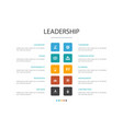 leadership infographic cloud design template vector image vector image