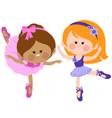 little ballerinas dancing vector image vector image