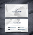 modern clean white and gray business card design vector image vector image