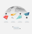 modern infographic templates for business vector image vector image
