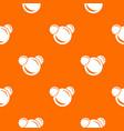 molecule reaction pattern orange vector image vector image