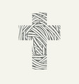monochrome design cross with wound threads vector image vector image
