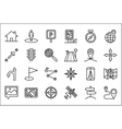 Navigation icon set vector image vector image