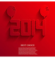 new year 2014 background Eps10 vector image vector image