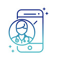 online health smartphone doctor consult app vector image vector image
