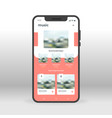 online music player ui ux gui screen for mobile vector image vector image
