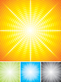Radial background vector image vector image