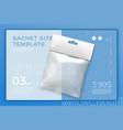 realistic transparent 3d snack sachet vector image