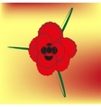 red bright rose vector image vector image