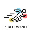 running man icon for performance on white vector image