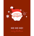 Santa claus on christmas card vector image