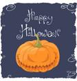 scary pumpkin face vector image vector image