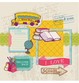 Scrapbook Design Elements - Back to School vector image vector image