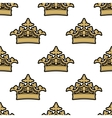 seamless pattern golden royal crowns vector image vector image