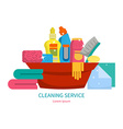 Set of items for cleaning home vector image vector image