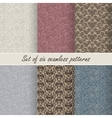 Set of six seamless patterns vector image vector image