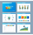 Set of template for presentation slides vector image vector image