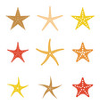set starfish icon flat design vector image