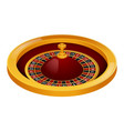 side view roulette casino mockup realistic style vector image vector image