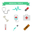 simple medical tools package vector image vector image