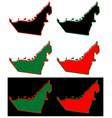 simplified map united arab emirates uae vector image vector image