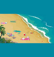 summer travel and vacation bathing in sun vector image
