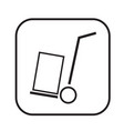 thin line handcart icon design vector image