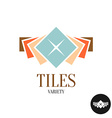 tiles variety logo row color square tiles vector image
