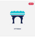 two color ottoman icon from furniture and vector image