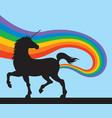 unicorns fart rainbows vector image vector image