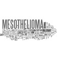 what is mesothelioma text word cloud concept vector image vector image