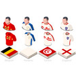 world cup group g jersey set vector image