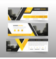 yellow black triangle corporate business banner vector image vector image