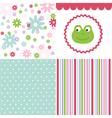 Baby pattern set vector image