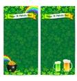 Green Patricks day flyer templates vector image
