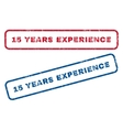 15 Years Experience Rubber Stamps vector image vector image