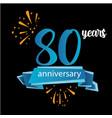 80 anniversary pictogram icon years birthday logo vector image