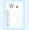 alphabet letters tracing worksheet vector image