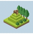 Animal design Isometric icon nature concept vector image