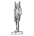 anubus is an egyptian deity vintage engraving vector image vector image