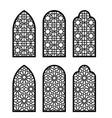 arabesque arch window or door set cnc pattern vector image
