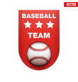 baseball badge and label vector image vector image