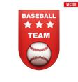 Baseball badge and label