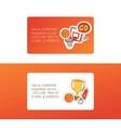 basketball sport basket-ball business card vector image vector image