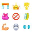 big sport icons set cartoon style vector image vector image