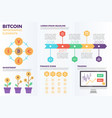bitcoin cryptocurrency infographic elements vector image vector image