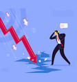 business failure shock vector image vector image