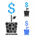 business project plant composition icon circles vector image vector image