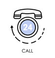 call center telephone isolated icon support or vector image