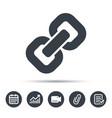 Chain icon internet web hyperlink sign